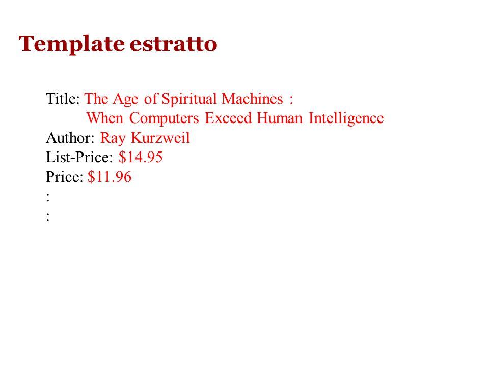 Es 2: Descrizione di libri Amazon ….