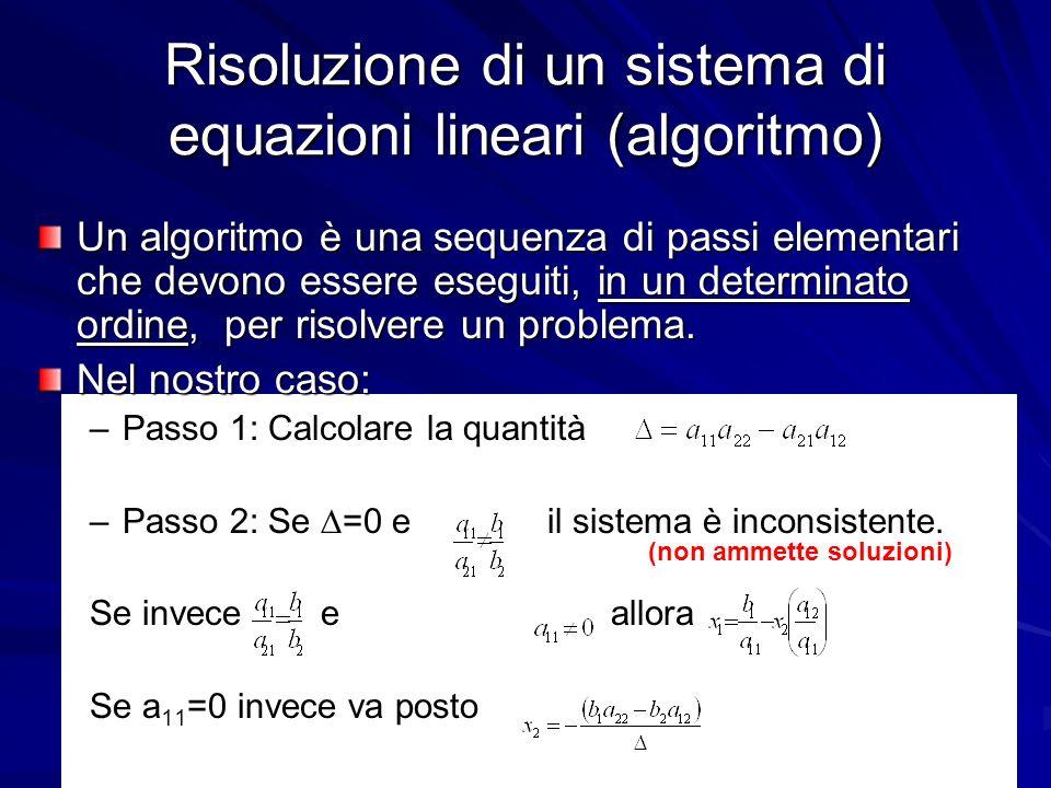 Prof. Chiara Petrioli, Corso di Fondamenti di Programmazione, a.a. 2009/2010 18 Risoluzione di un sistema di equazioni lineari (algoritmo) Un algoritm
