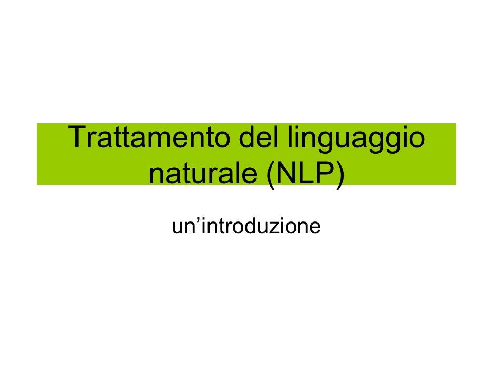 Trattamento del linguaggio naturale (NLP) unintroduzione
