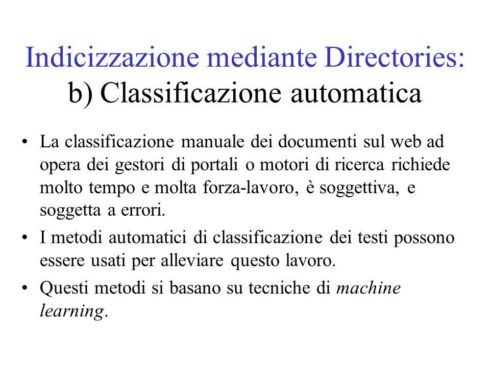 Gerarchizzazione automatica di documenti Lo sviluppo di tassonomie è un processo complesso, richiede tempo, è soggettivo, produce errori.