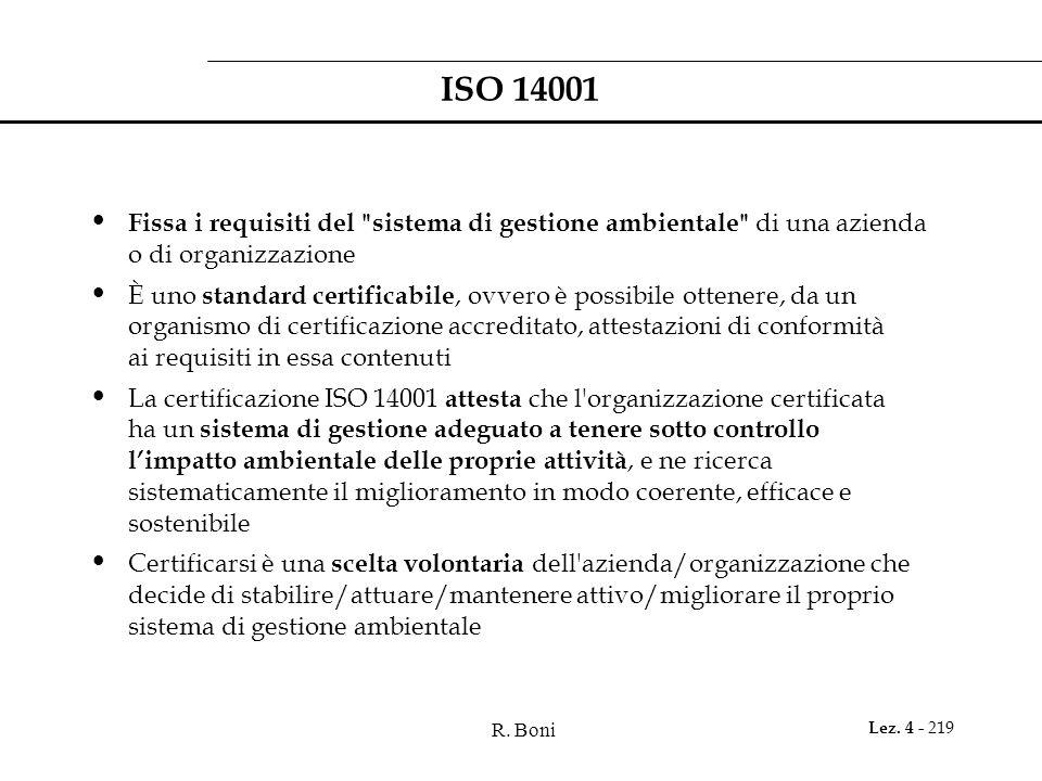 R. Boni Lez. 4 - 219 ISO 14001 Fissa i requisiti del