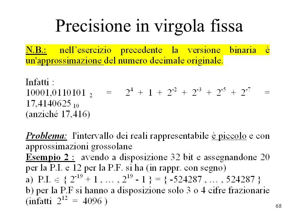 68 Precisione in virgola fissa