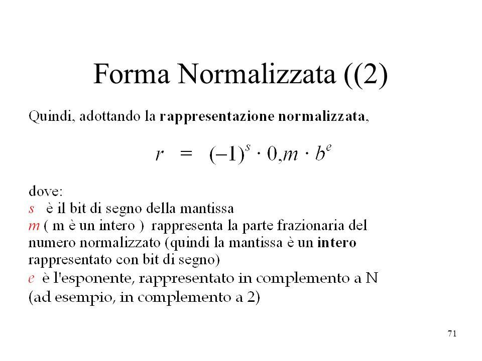 71 Forma Normalizzata ((2)
