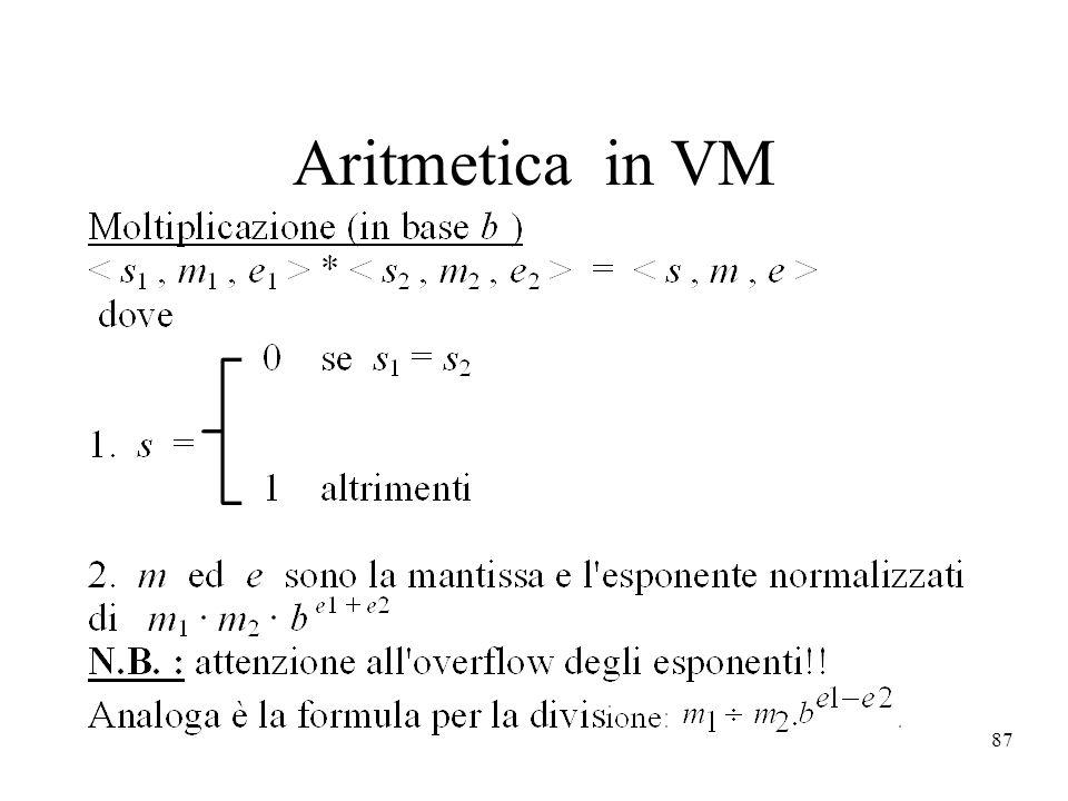 87 Aritmetica in VM