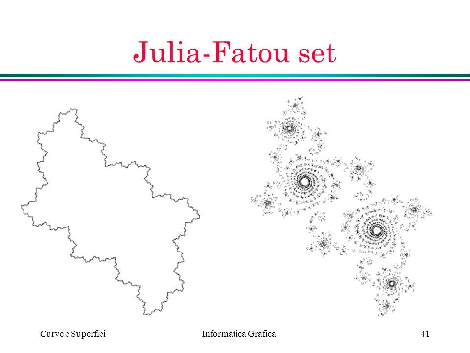 Informatica Grafica Curve e Superfici41 Julia-Fatou set