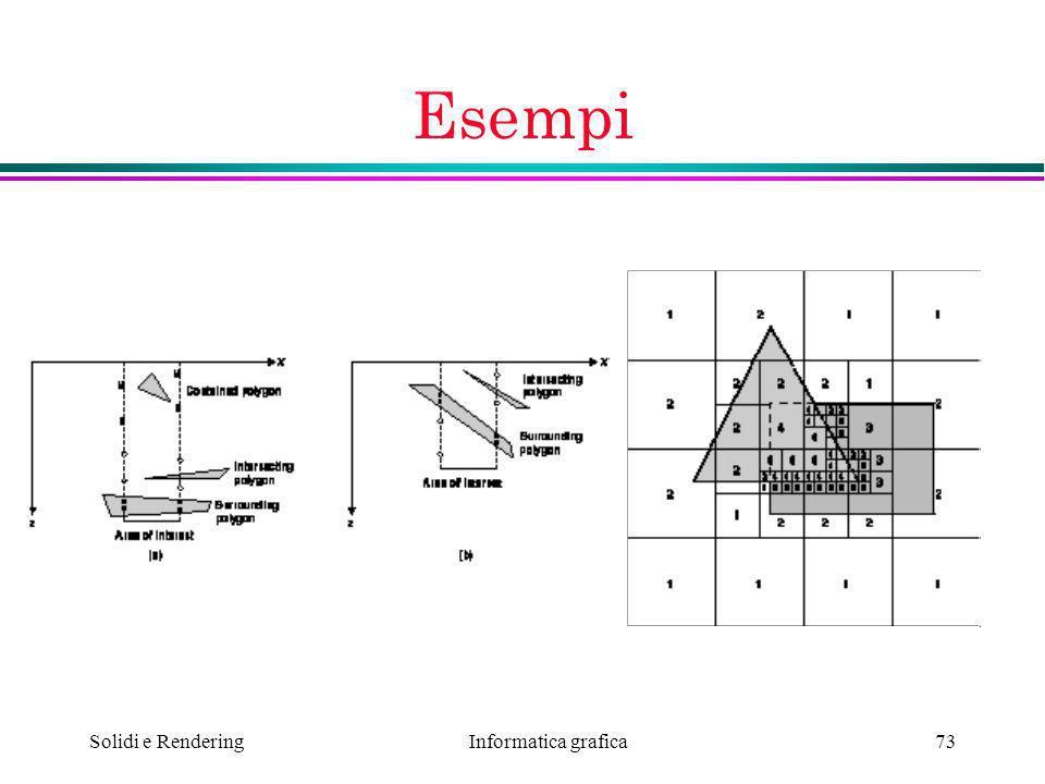 Informatica grafica Solidi e Rendering73 Esempi