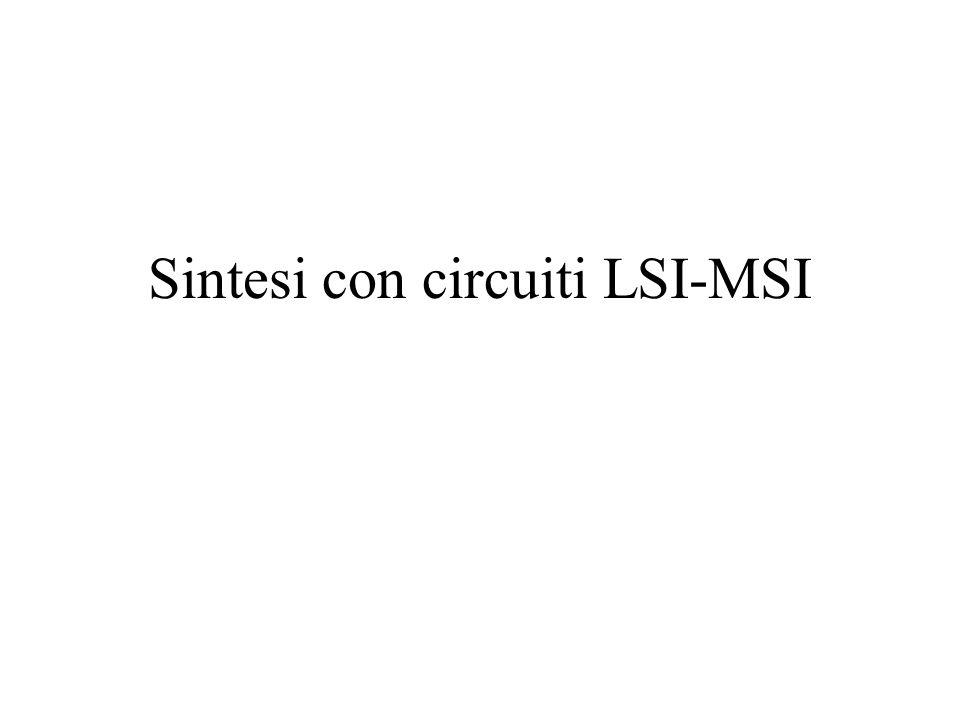 Sintesi con circuiti LSI-MSI