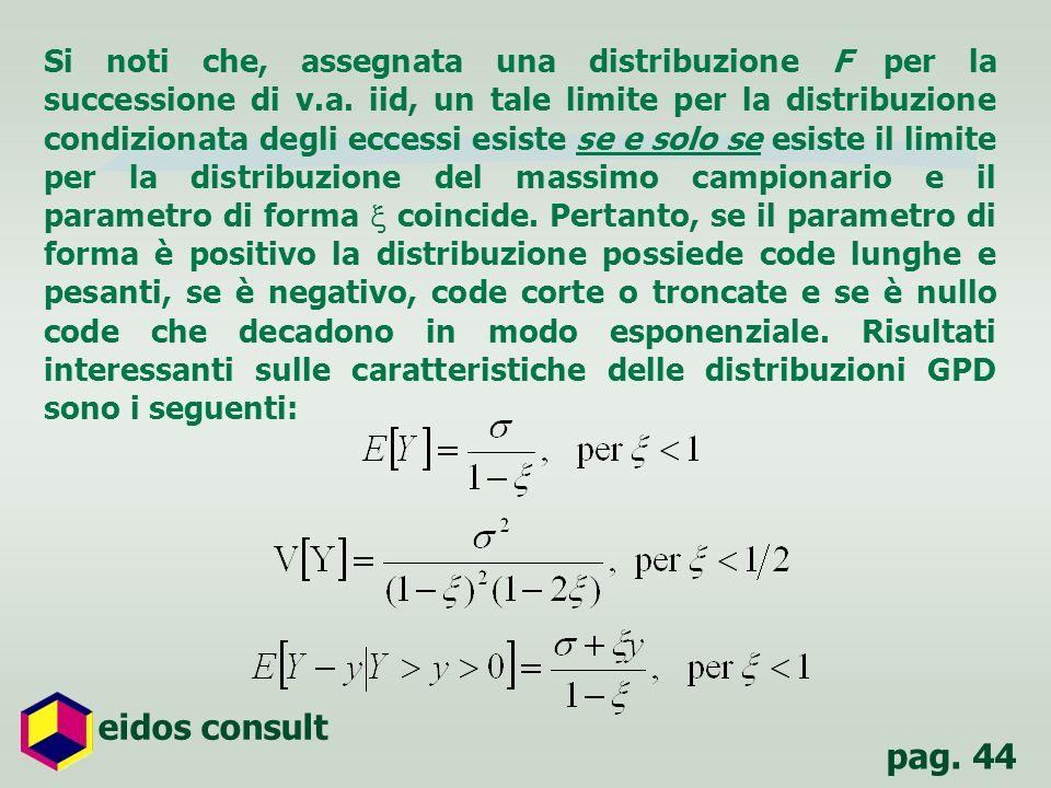 pag. 44 eidos consult Si noti che, assegnata una distribuzione F per la successione di v.a. iid, un tale limite per la distribuzione condizionata degl