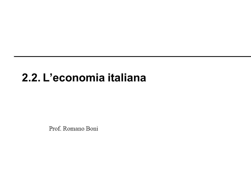 Prof. Romano Boni 2.2. Leconomia italiana