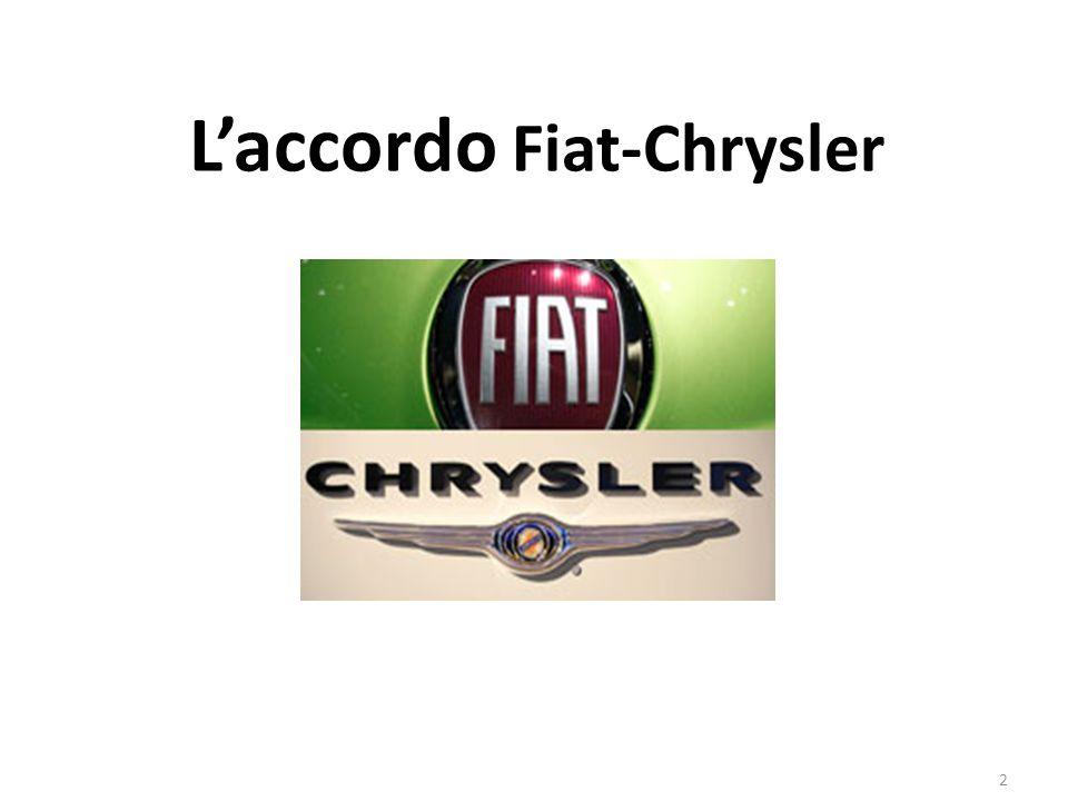 La situazione di Chrysler Prima della crisi del 2008 Chrysler era una delle prime 3 case automobilistiche in America Con lo scoppio della crisi mondiale è entrata in grave crisi finanziaria ed è scivolata al quinto posto del mercato Usa con un calo delle vendite del 30% su base annua 3