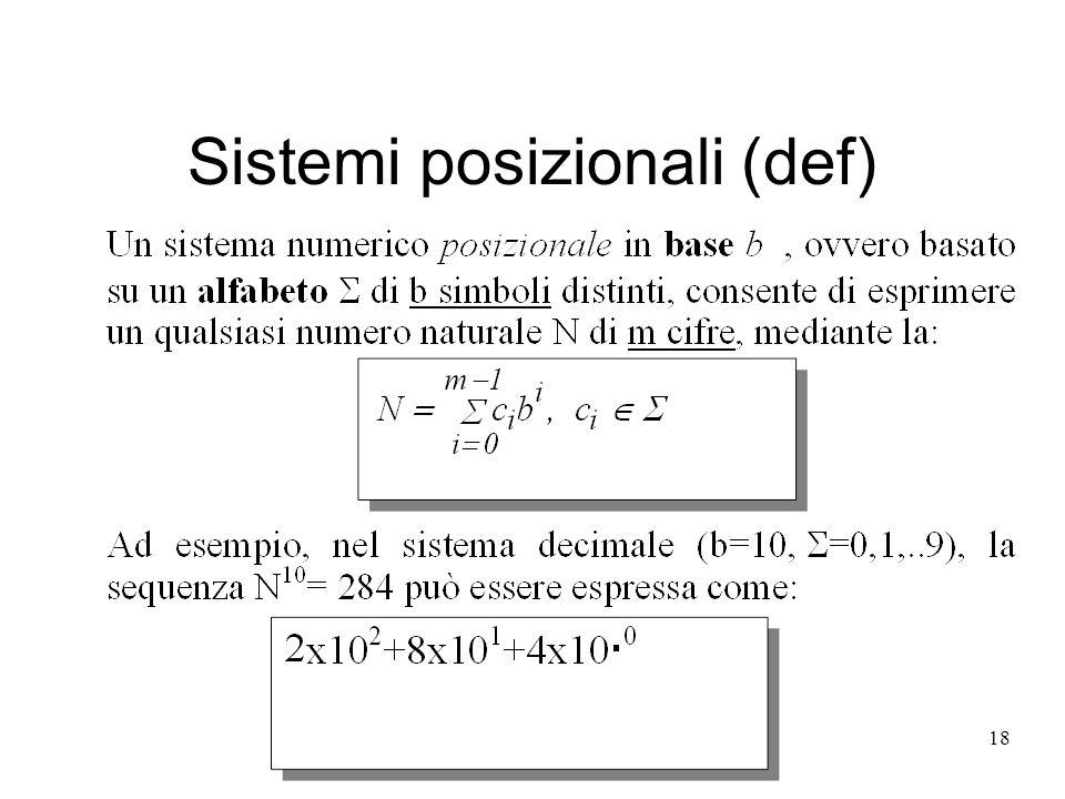 18 Sistemi posizionali (def)
