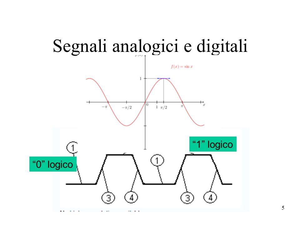 5 Segnali analogici e digitali 0 logico 1 logico