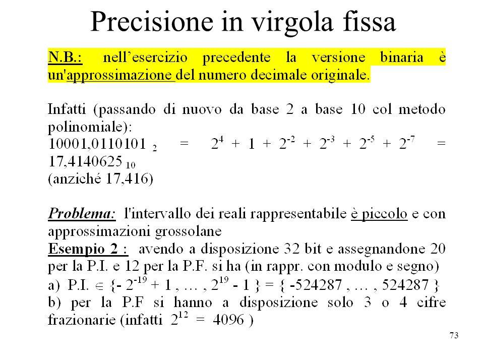 73 Precisione in virgola fissa