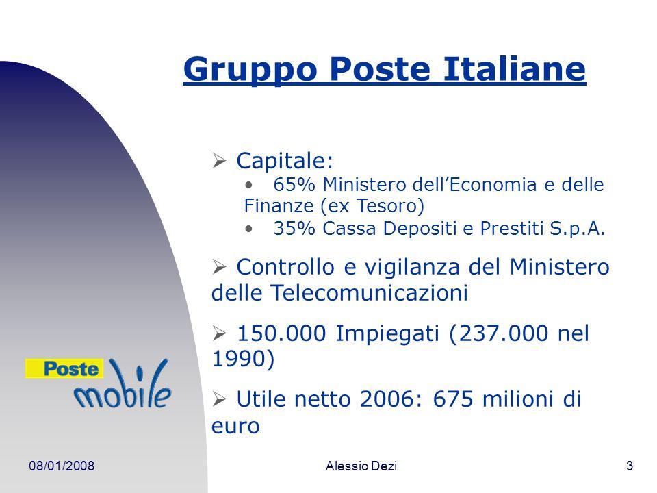 08/01/2008Alessio Dezi14 Sigle POS: Point of Sale PA: Pubblica Amministrazione MVNO: Mobile Virtual Network Operator