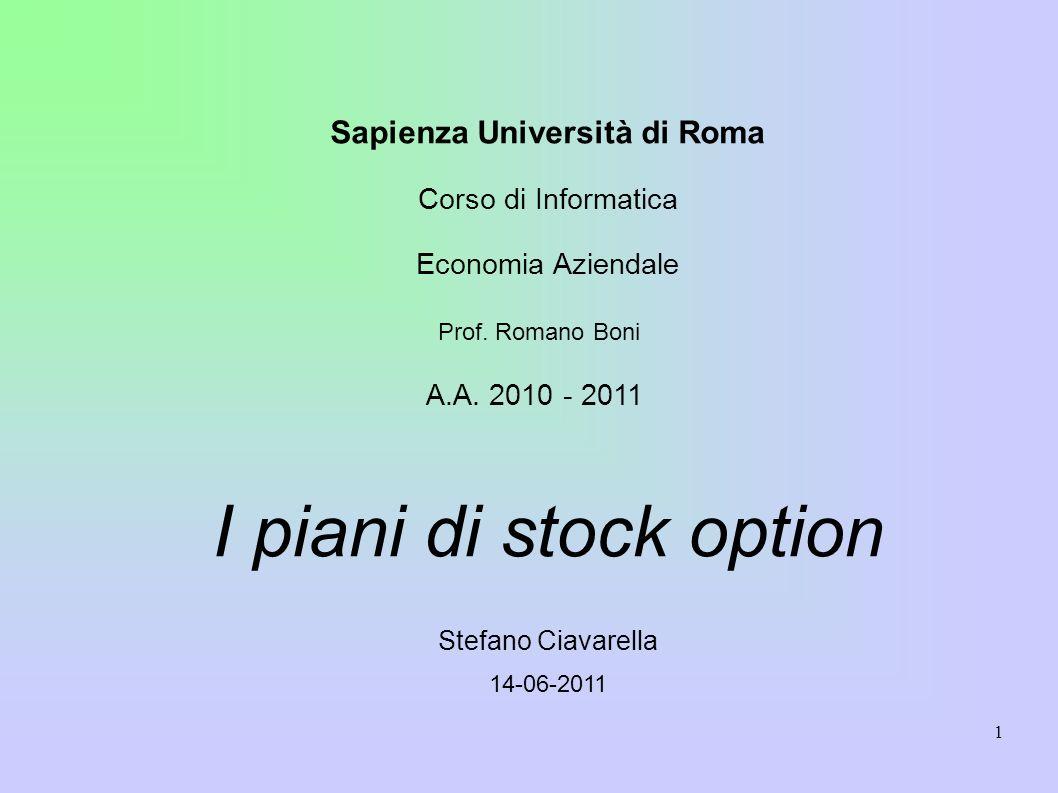 1 Sapienza Università di Roma Corso di Informatica Economia Aziendale Prof.