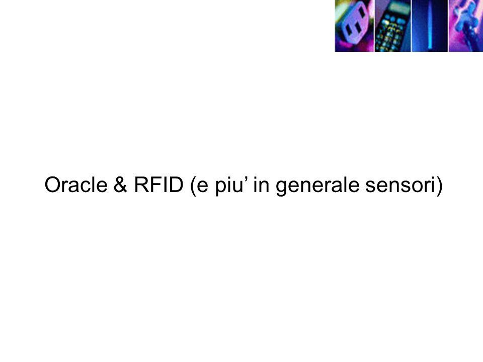 Oracle & RFID (e piu in generale sensori)