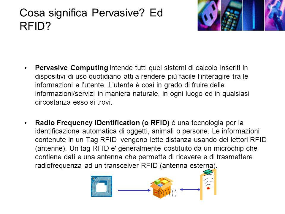 Cosa significa Pervasive.Ed RFID.