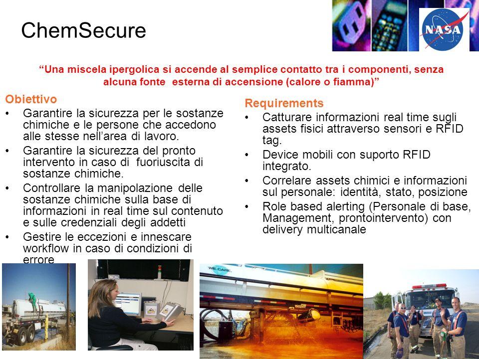 ChemSecure Obiettivo Garantire la sicurezza per le sostanze chimiche e le persone che accedono alle stesse nellarea di lavoro.