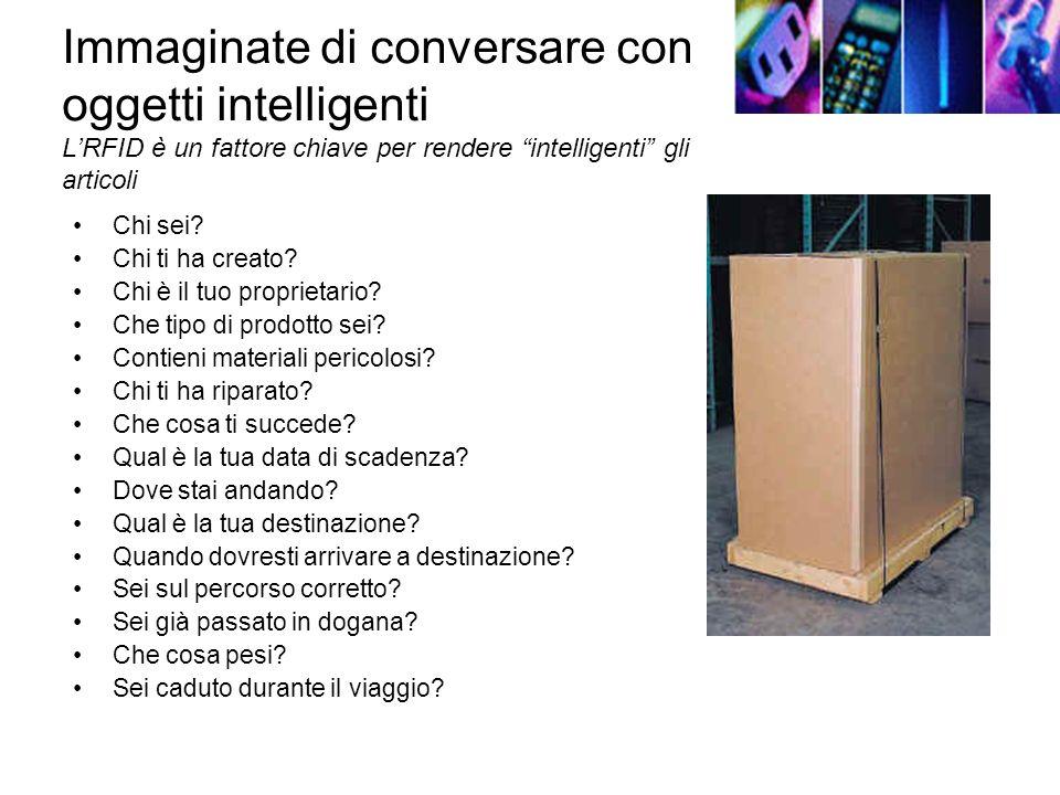 Immaginate di conversare con oggetti intelligenti LRFID è un fattore chiave per rendere intelligenti gli articoli Chi sei.