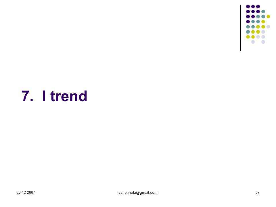 20-12-2007carlo.viola@gmail.com67 7. I trend