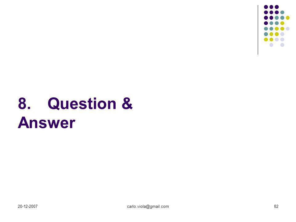 20-12-2007carlo.viola@gmail.com82 8.Question & Answer