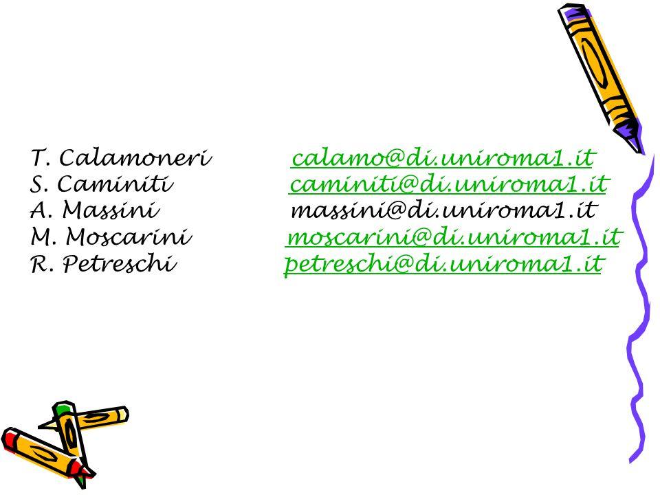 T. Calamoneri calamo@di.uniroma1.itcalamo@di.uniroma1.it S.