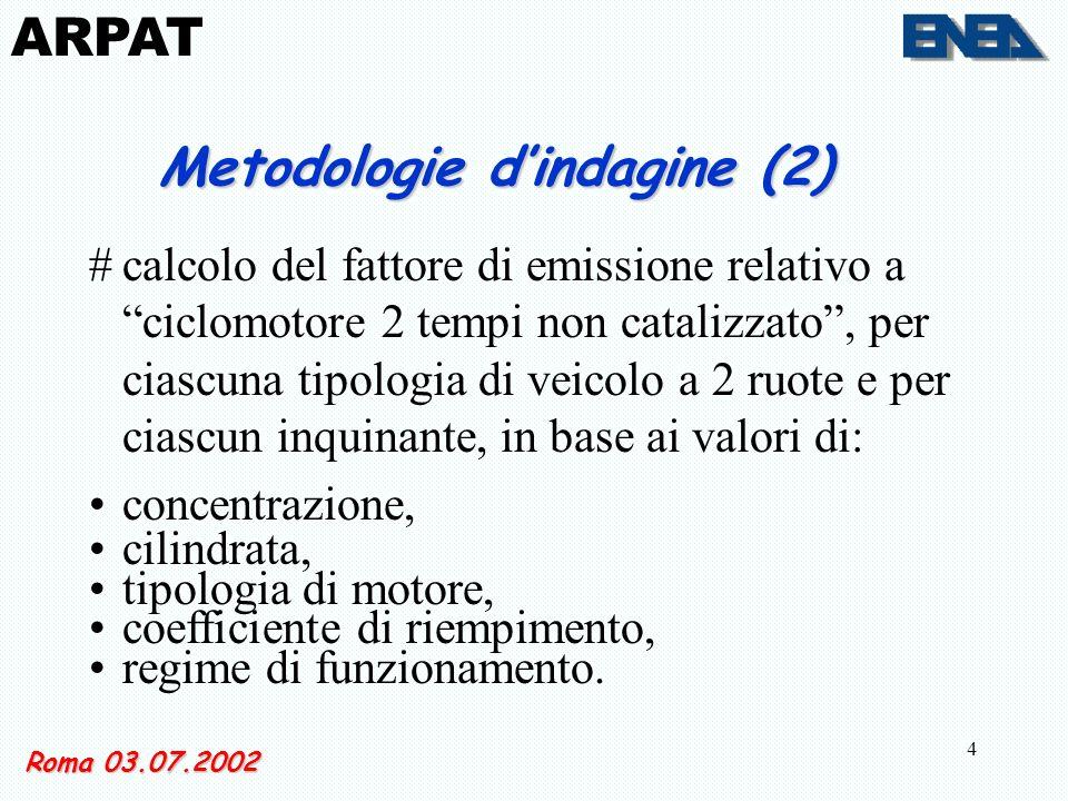 4 #calcolo del fattore di emissione relativo a ciclomotore 2 tempi non catalizzato, per ciascuna tipologia di veicolo a 2 ruote e per ciascun inquinan