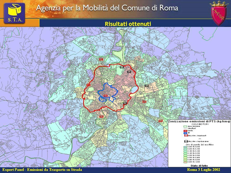 15 Expert Panel - Emissioni da Trasporto su Strada Roma 3 Luglio 2002 Risultati ottenuti