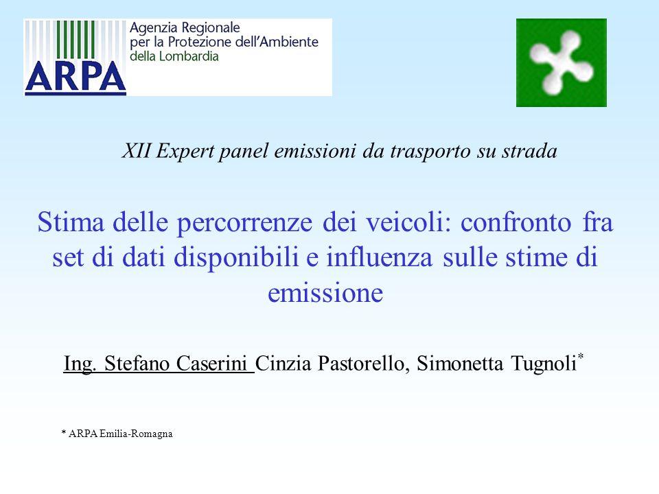 Stima delle percorrenze dei veicoli: confronto fra set di dati disponibili e influenza sulle stime di emissione Ing. Stefano Caserini Cinzia Pastorell