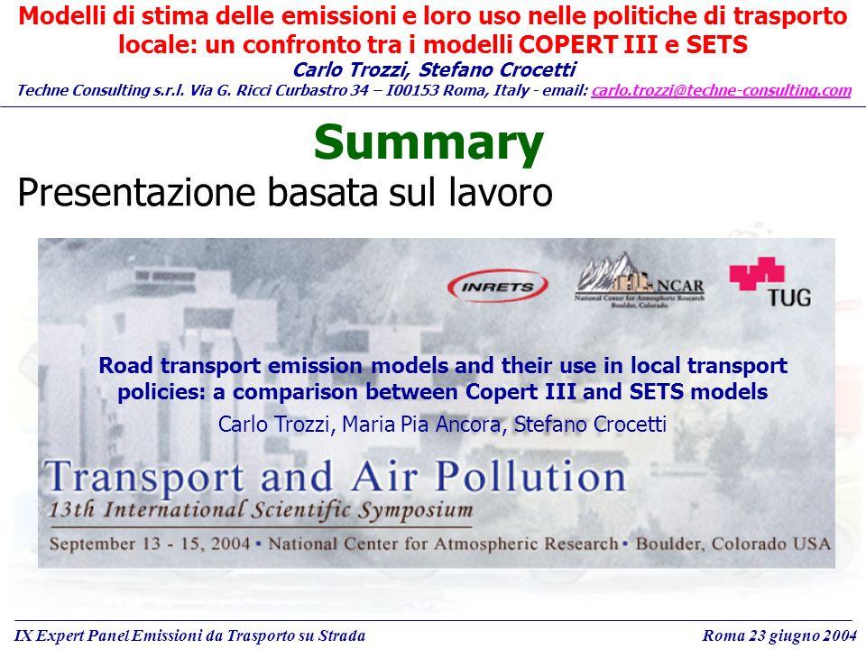 Carlo Trozzi, Stefano Crocetti Techne Consulting s.r.l.