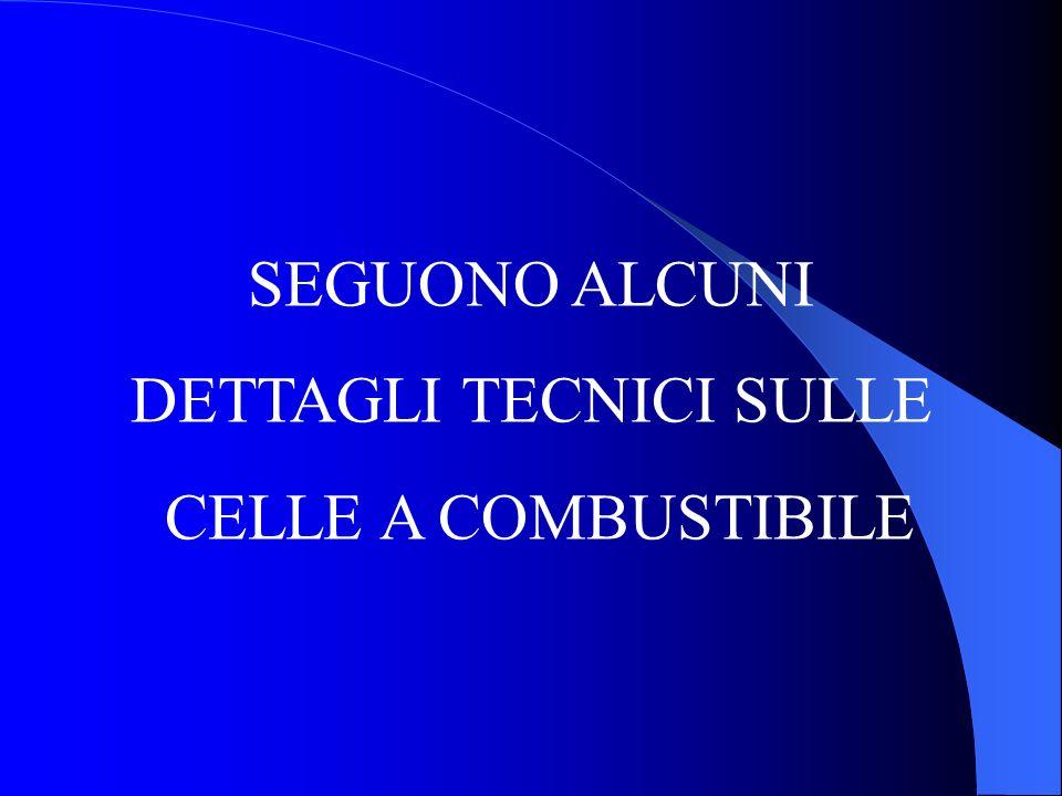 SEGUONO ALCUNI DETTAGLI TECNICI SULLE CELLE A COMBUSTIBILE