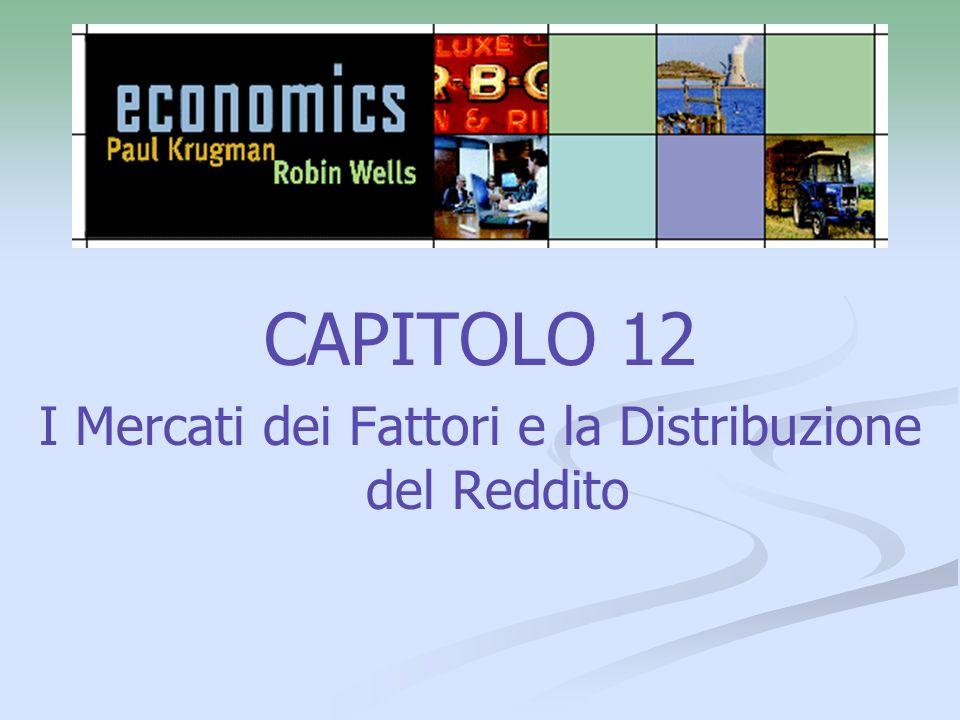 CAPITOLO 12 I Mercati dei Fattori e la Distribuzione del Reddito