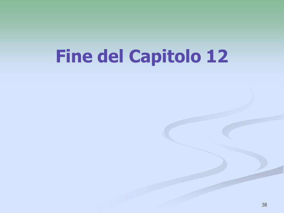38 Fine del Capitolo 12