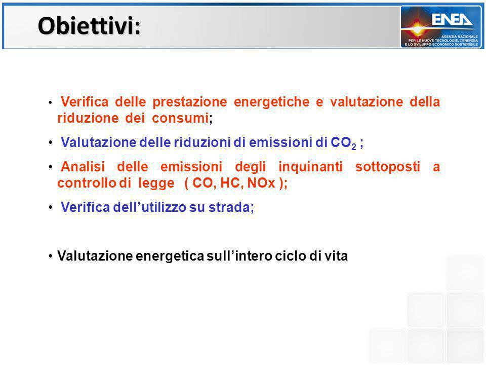 Verifica delle prestazione energetiche e valutazione della riduzione dei consumi; Valutazione delle riduzioni di emissioni di CO 2 ; Analisi delle emi