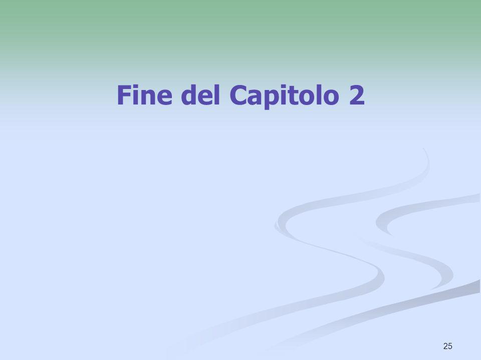25 Fine del Capitolo 2