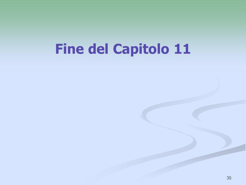 35 Fine del Capitolo 11