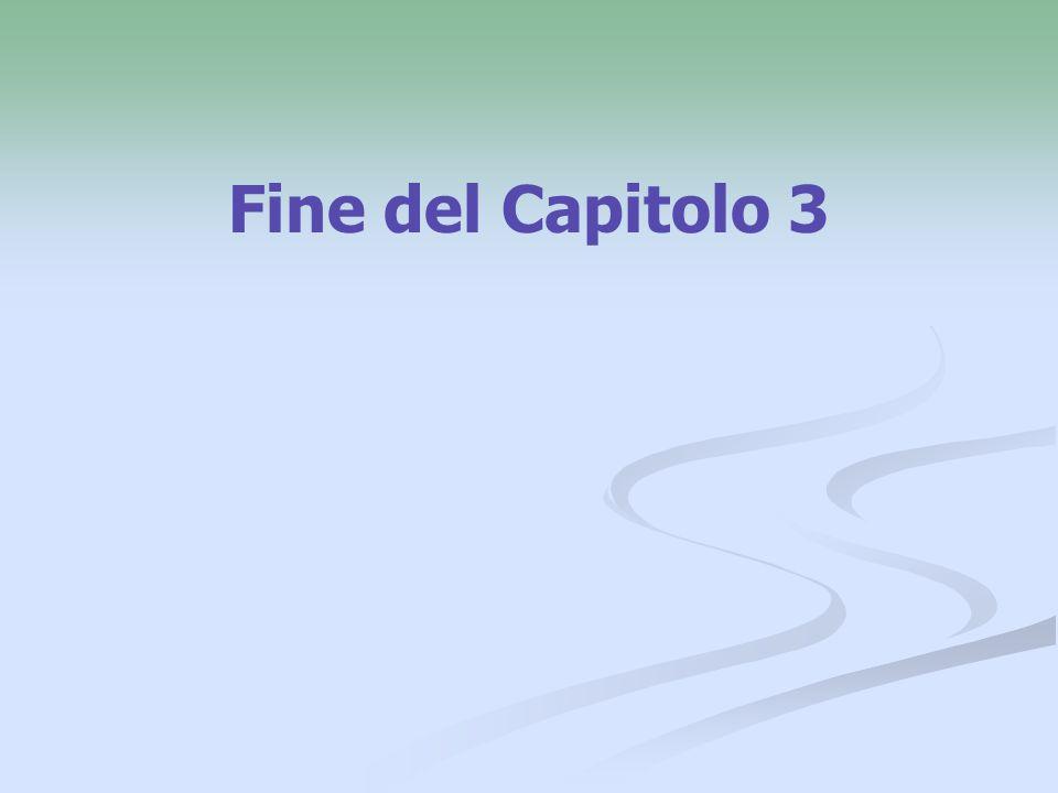 Fine del Capitolo 3