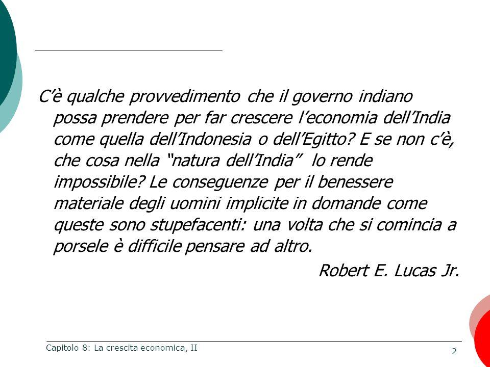 23 Capitolo 8: La crescita economica, II Liberisti.