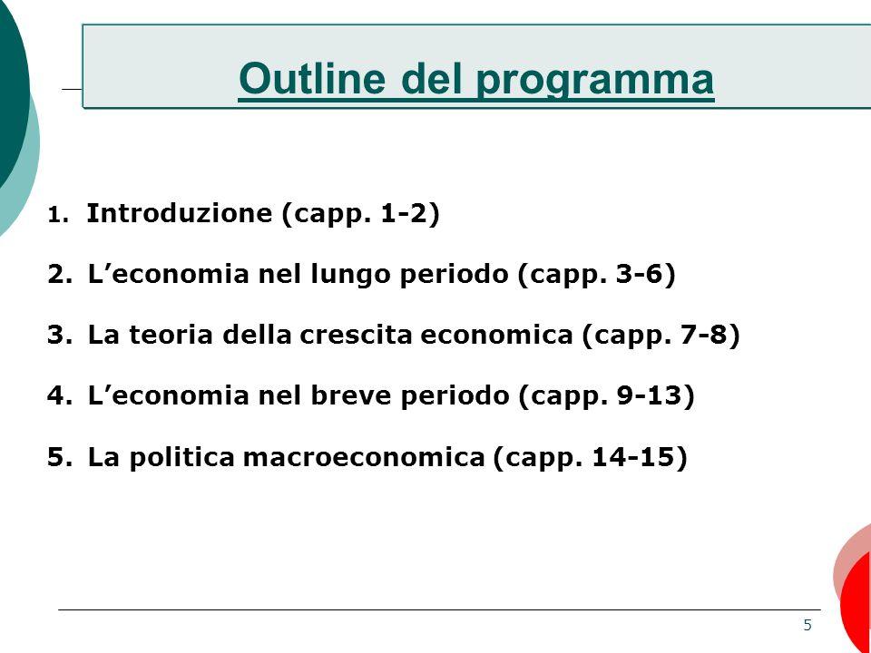 5 Outline del programma 1.Introduzione (capp. 1-2) 2.