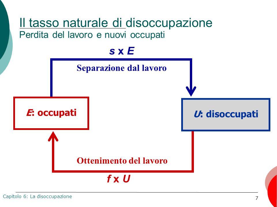 78 I connotati della disoccupazione La partecipazione alla forza lavoro: Italia Capitolo 6: La disoccupazione