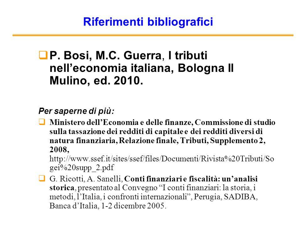 Riferimenti bibliografici P. Bosi, M.C.