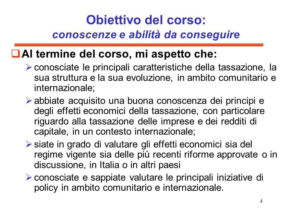 5 Argomenti del programma Introduzione e richiamo ai principi di tassazione internazionale.