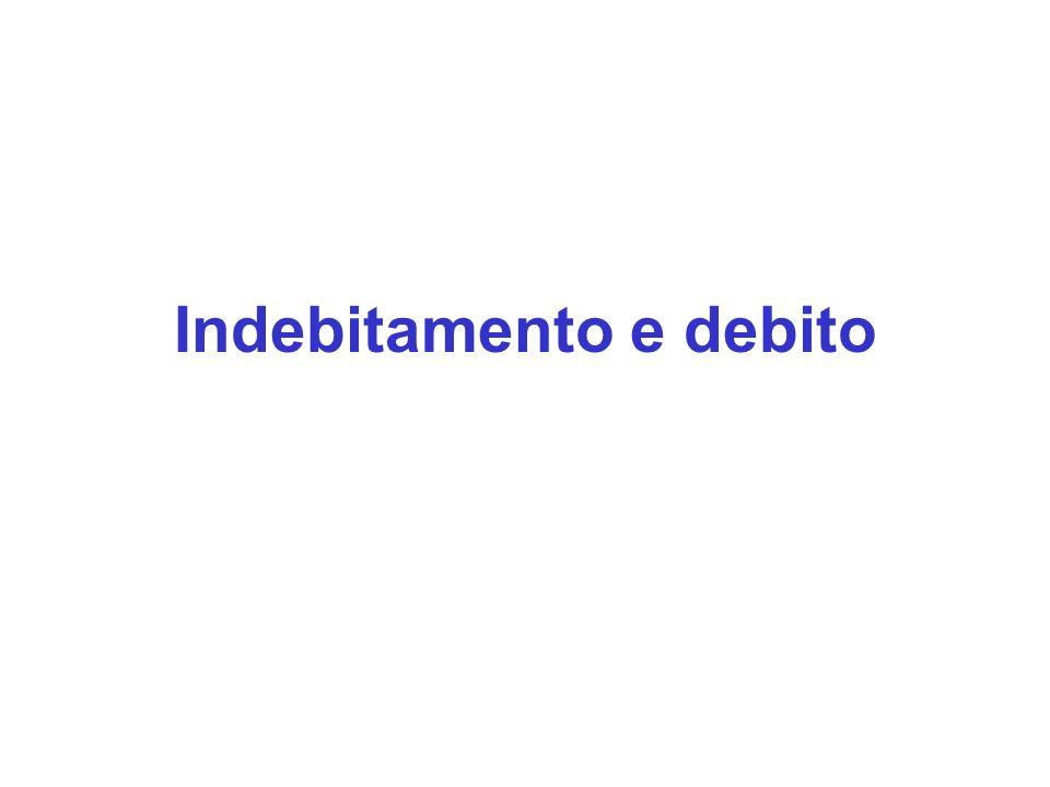 Indebitamento e debito