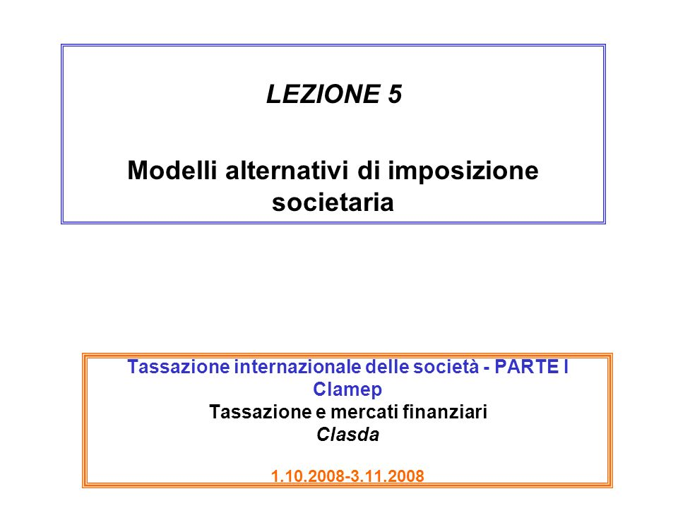 42 ACT alla fonte: proprietà e problemi The neutrality properties of the ACE system will depend on whether the imputed rate of return on equity is set at the right level.