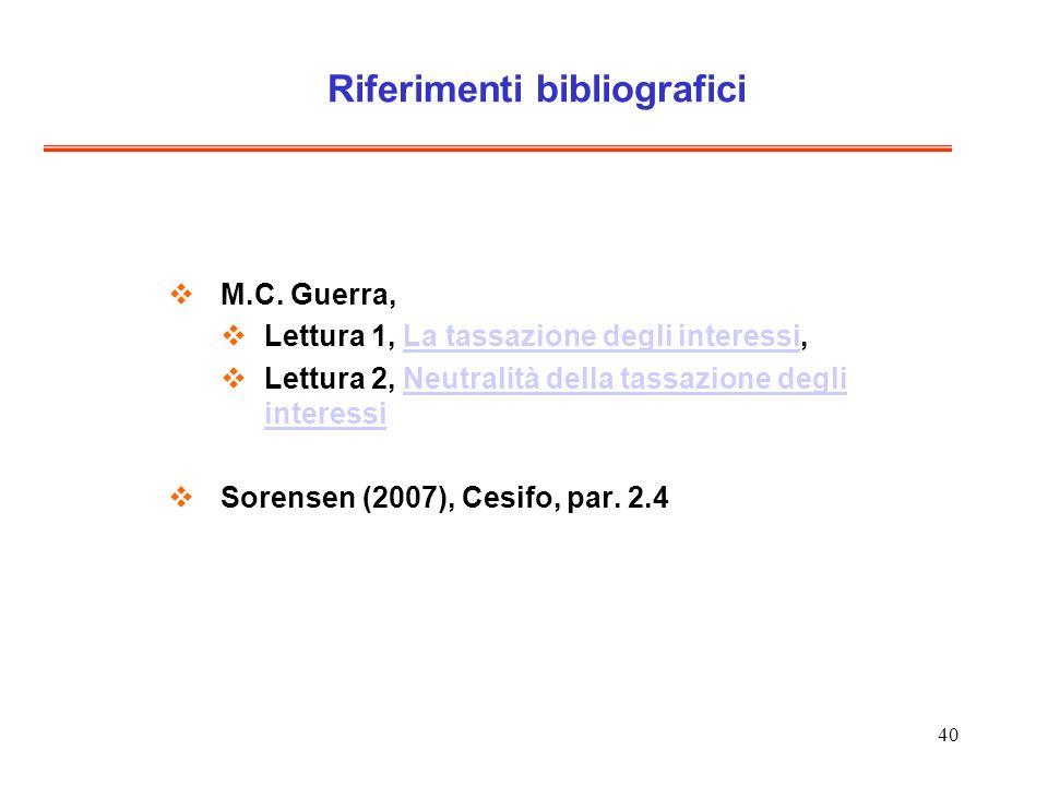40 Riferimenti bibliografici M.C.