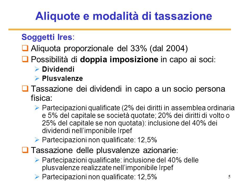 26 Dual income tax (1997-2001) (2) Perché solo incrementi.