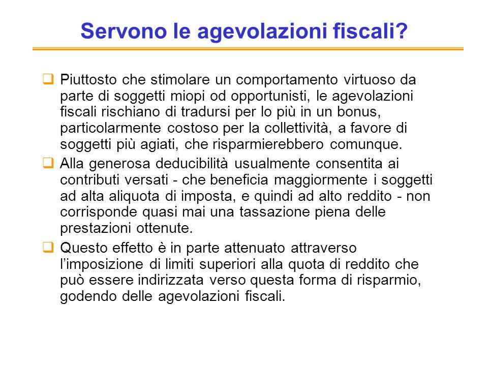 Servono le agevolazioni fiscali? Piuttosto che stimolare un comportamento virtuoso da parte di soggetti miopi od opportunisti, le agevolazioni fiscali