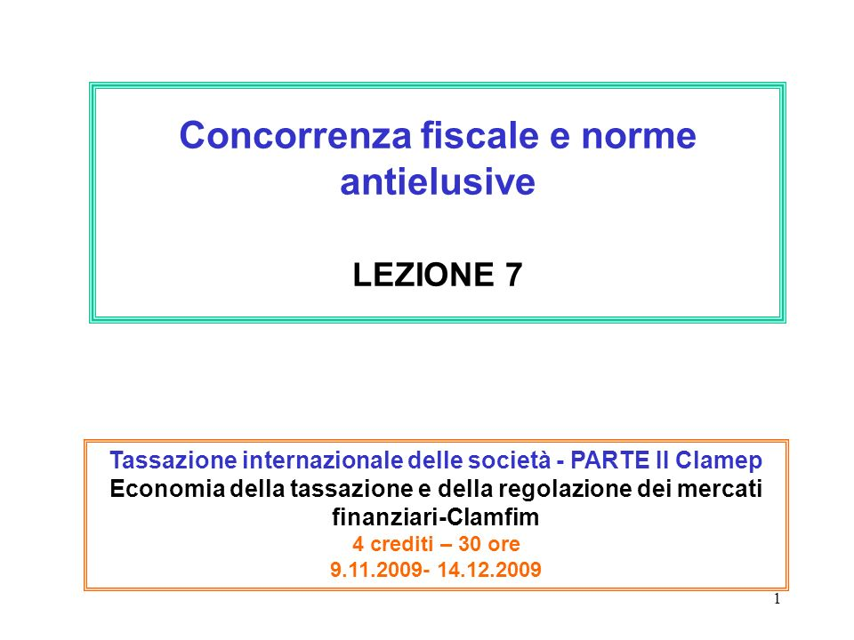 2 Domanda generale: Come fronteggiano I singoli paesi la concorrenza fiscale.