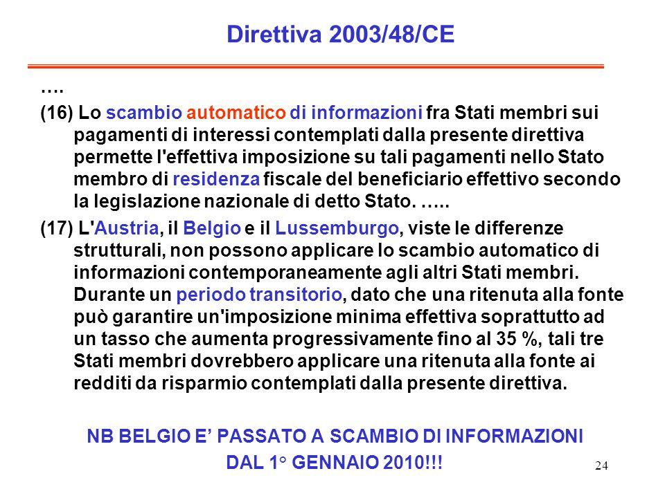 24 Direttiva 2003/48/CE ….