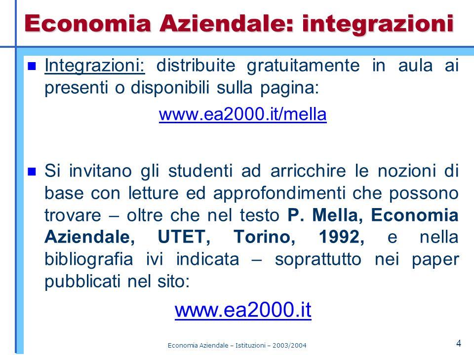 Corso di Economia Aziendale Istituzioni CAPITOLO 1 Nozioni di metodo Titolari.